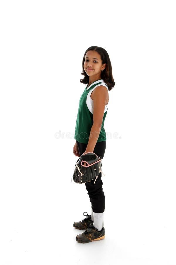 球员垒球 图库摄影
