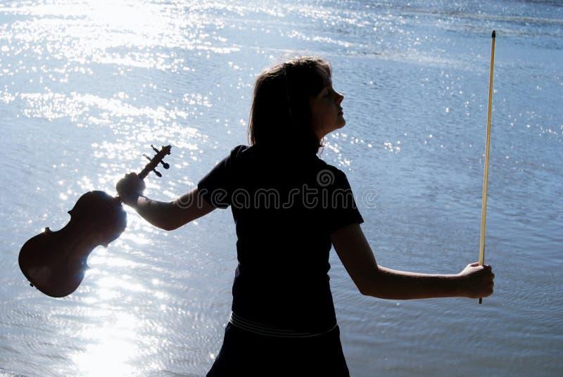 球员小提琴 免版税库存图片