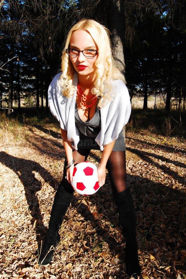 球员性感的足球 库存照片
