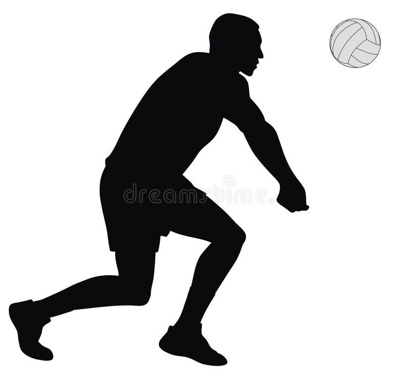 球员排球 向量例证