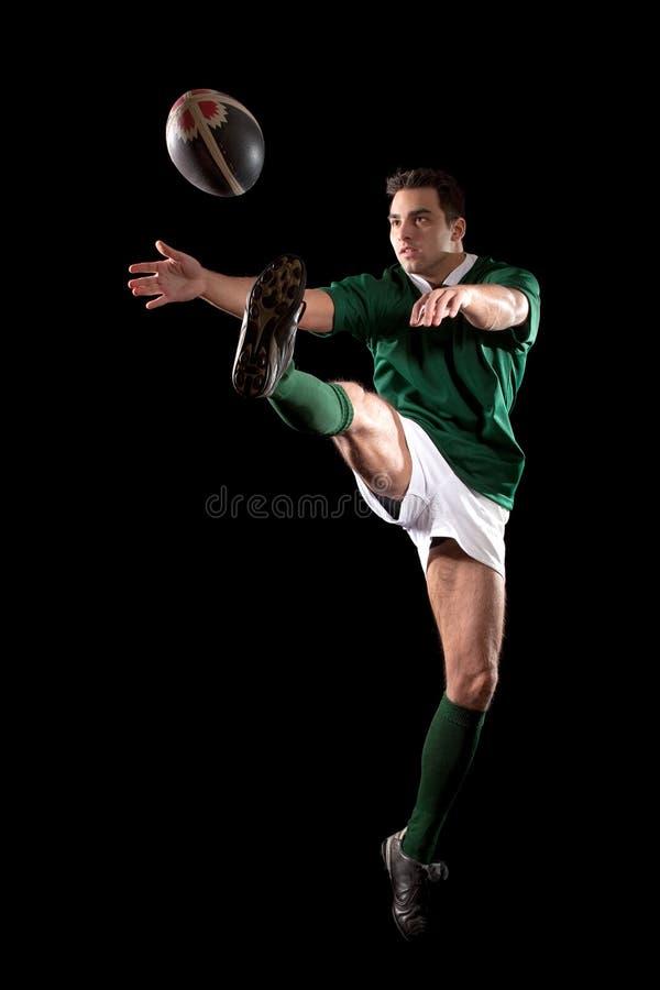球员橄榄球 免版税库存照片