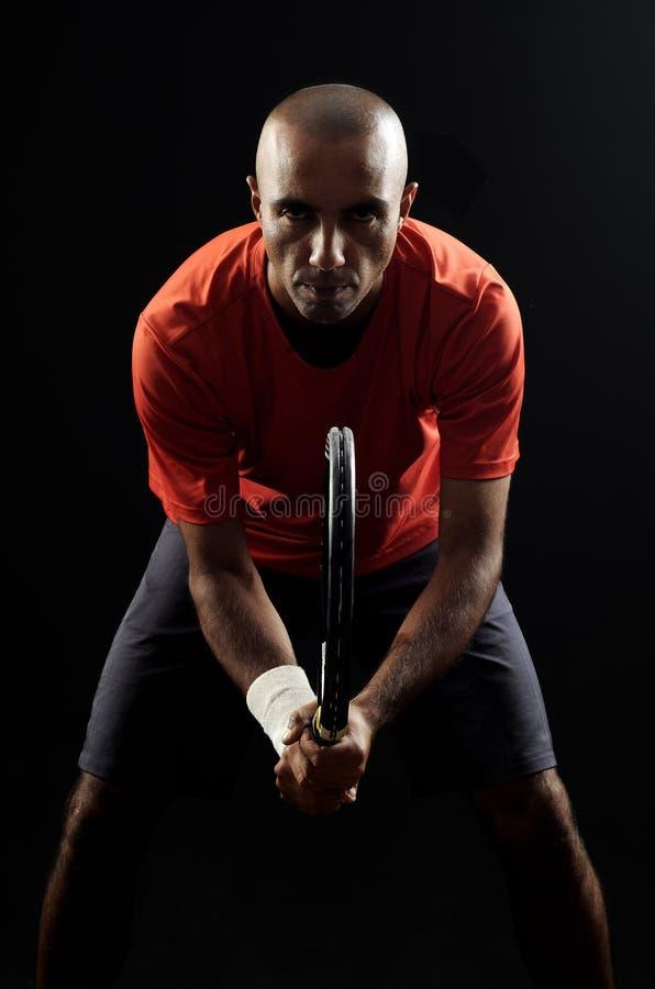球员纵向网球 库存照片