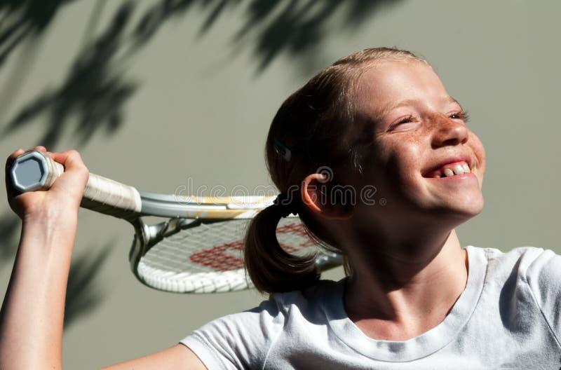 球员网球年轻人 免版税库存图片