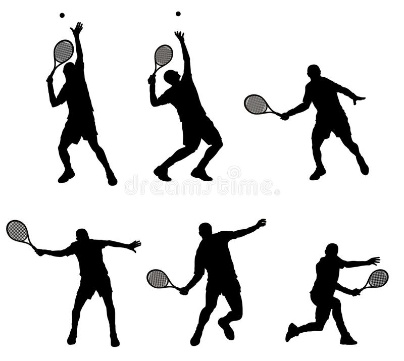 球员网球 皇族释放例证