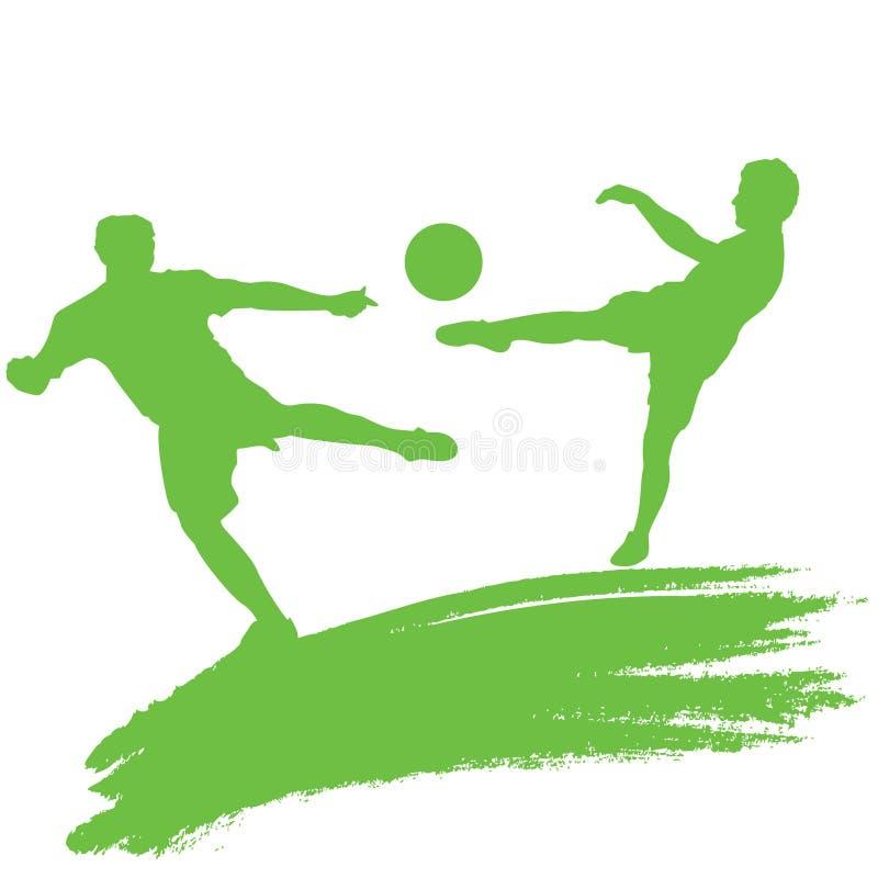 球员足球 向量例证