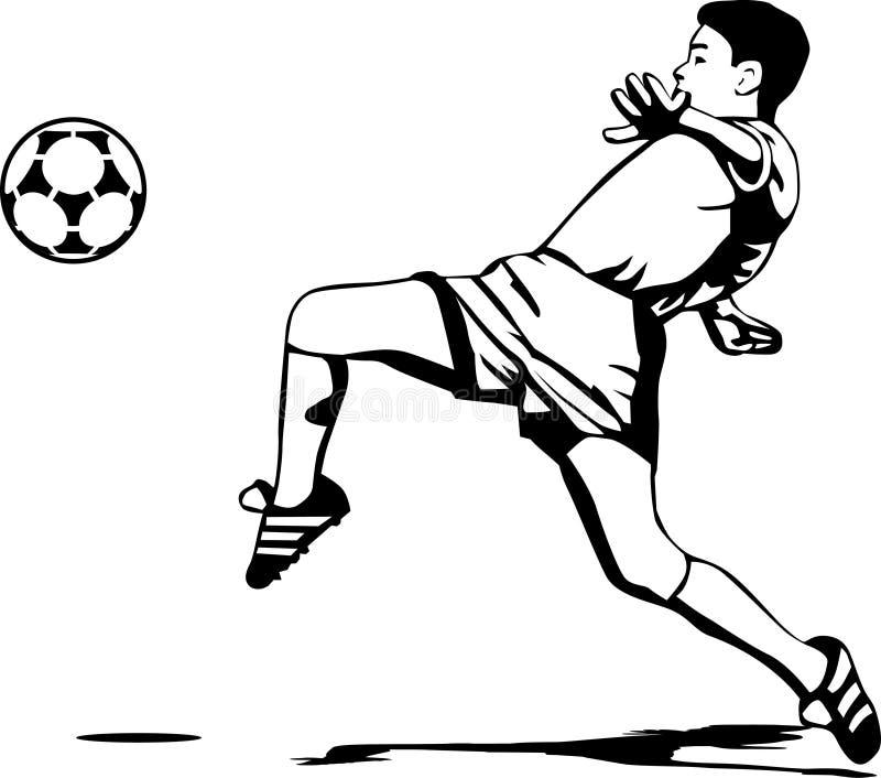 球员足球 皇族释放例证