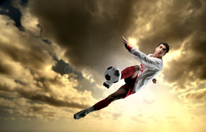 球员足球 免版税库存图片