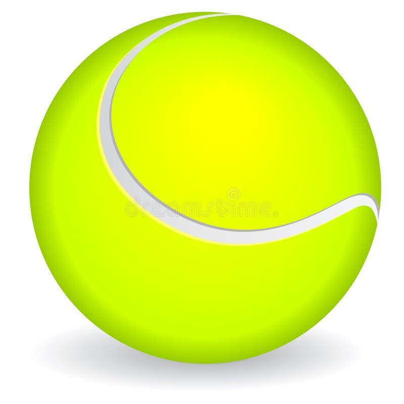 球图标网球 向量例证