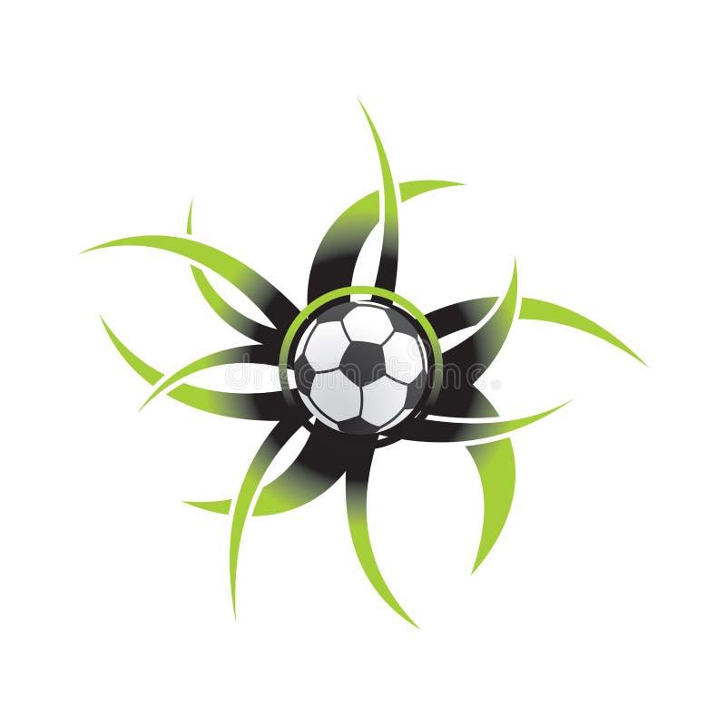 球图标足球 库存例证