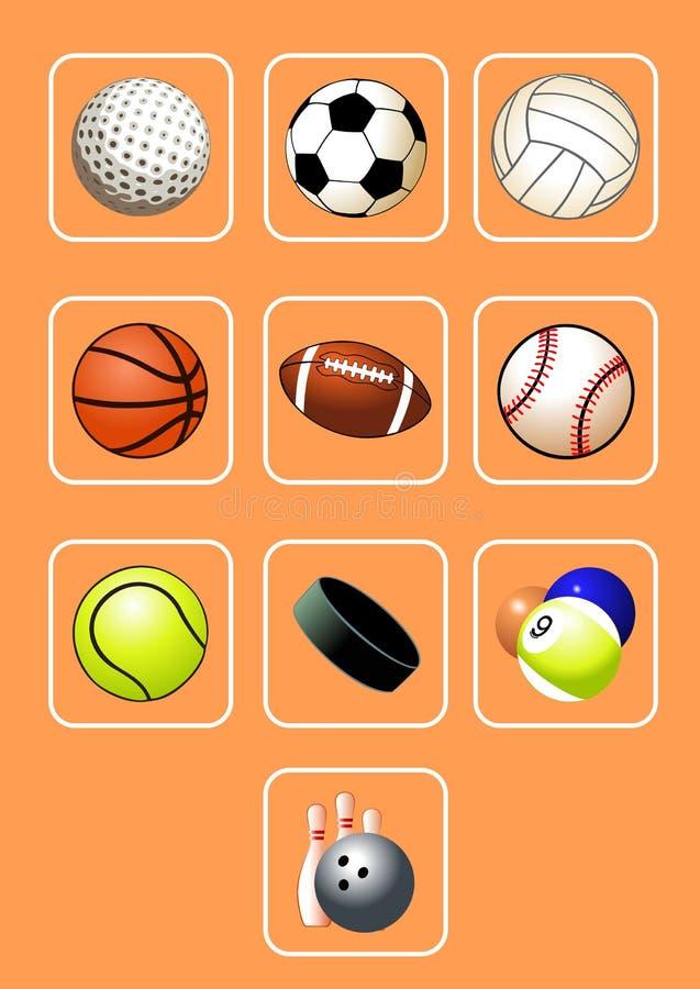 球图标集合体育运动 皇族释放例证