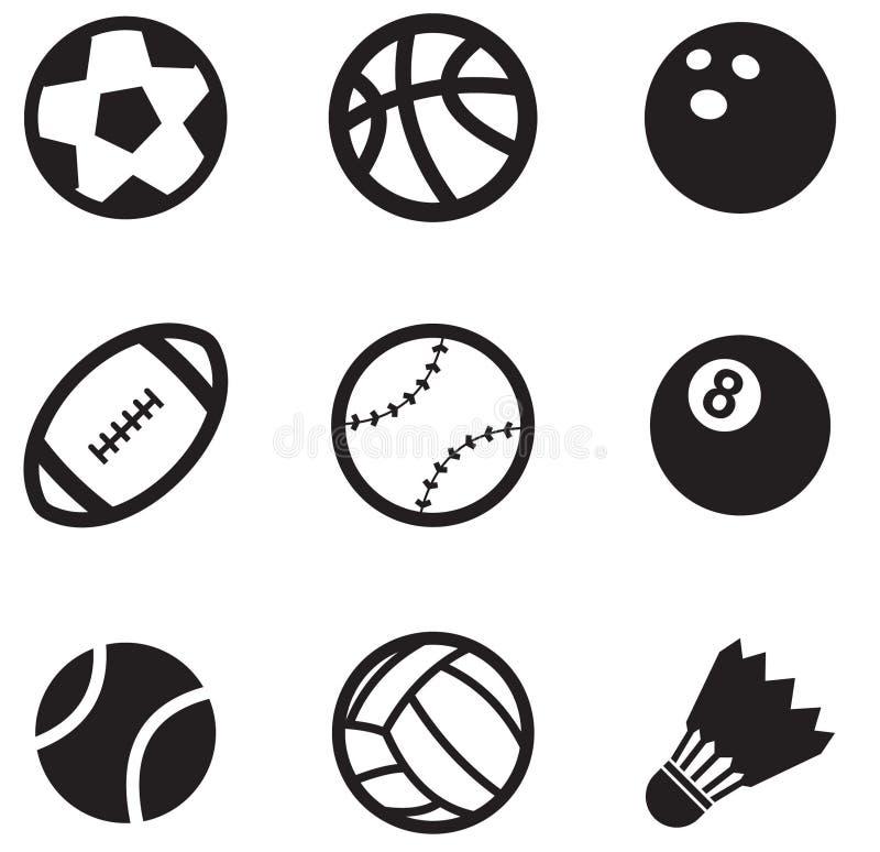 球图标 向量例证