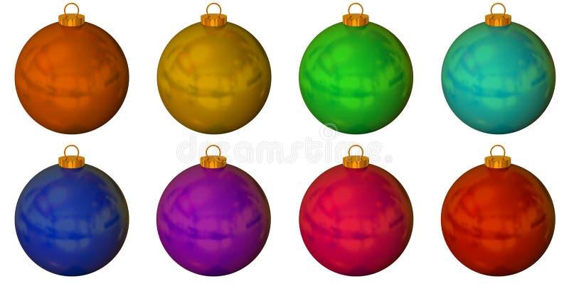 球圣诞节彩色组固体 库存图片