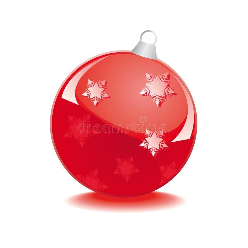 球圣诞节玻璃红色 皇族释放例证