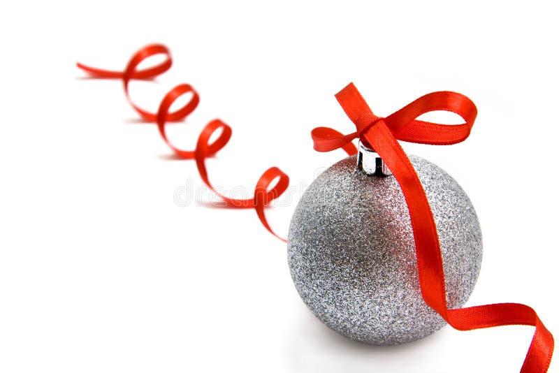 球圣诞节玻璃银 免版税库存照片