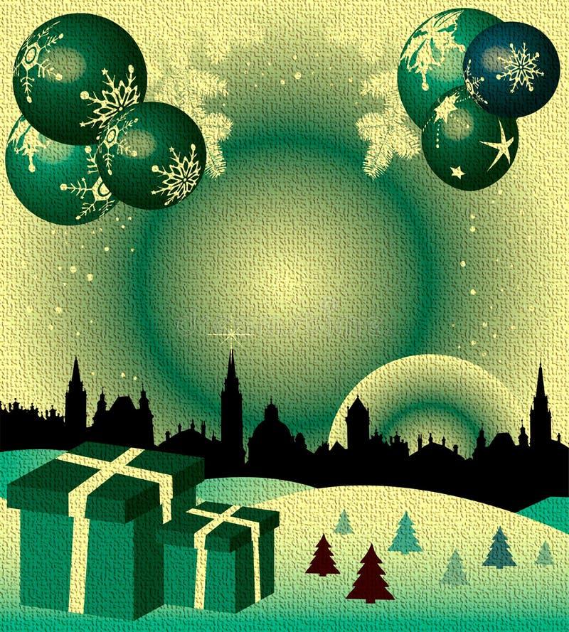 球圣诞节礼品 皇族释放例证