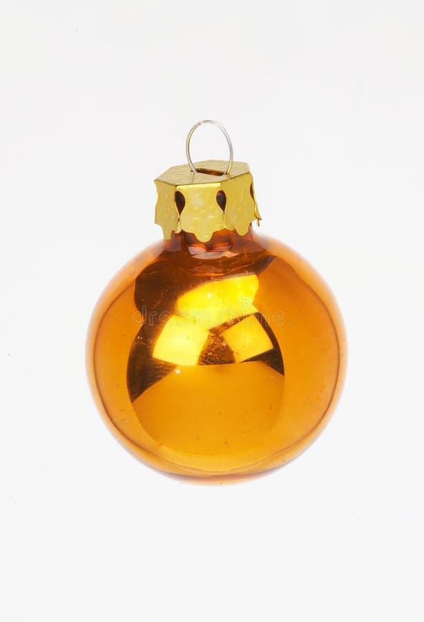 球圣诞节装饰金黄goldene weihnachstkugel 免版税库存图片