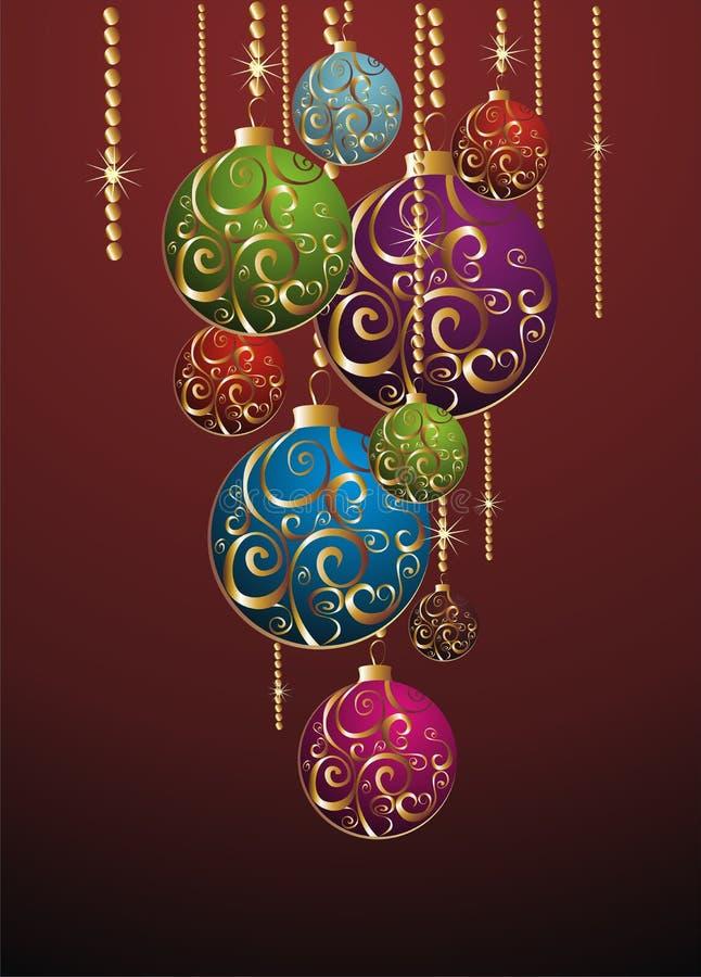 球圣诞节金子 向量例证