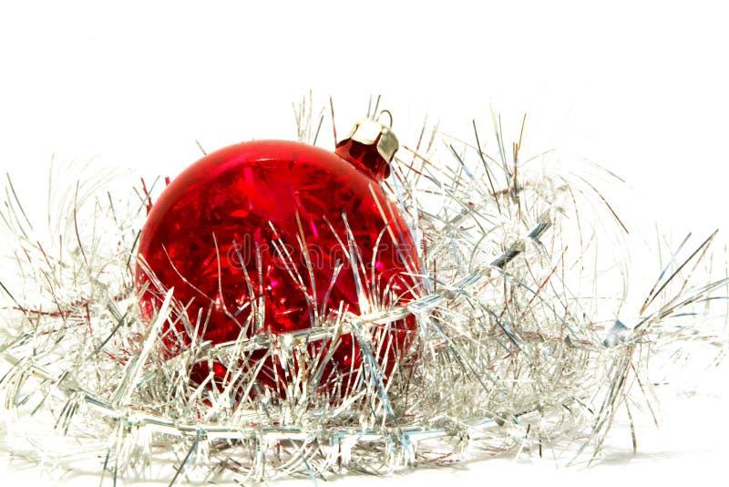 球圣诞节闪亮金属片 免版税图库摄影