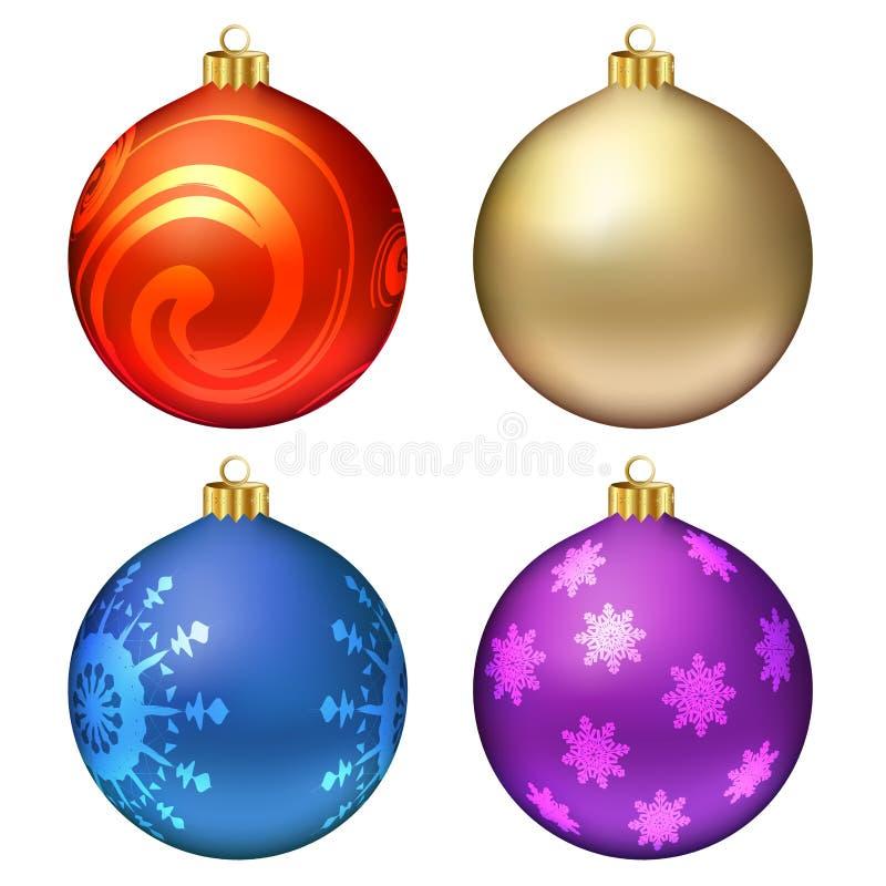 Download 球圣诞节集 向量例证. 插画 包括有 介绍, 蓝色, 装饰品, 钞票, 金黄, 竹子, 红色, 装饰, 设计 - 22357134