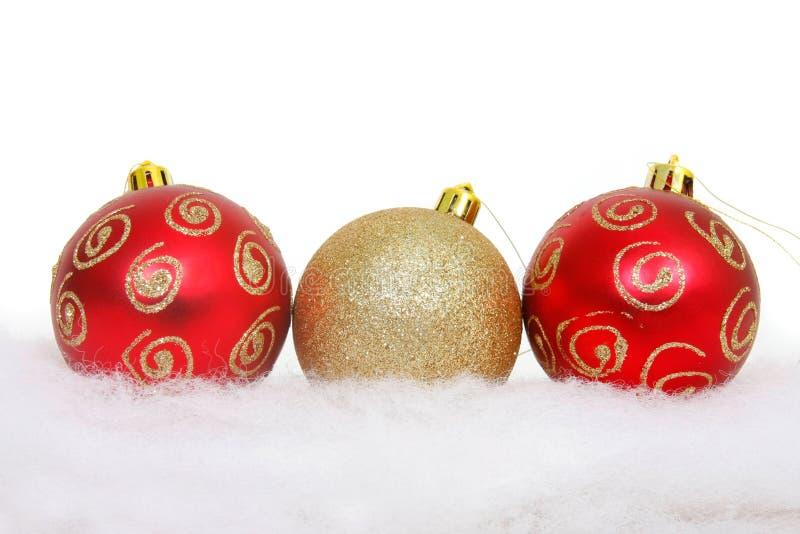 球圣诞节雪 库存图片