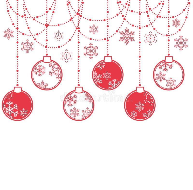 球圣诞节 向量例证