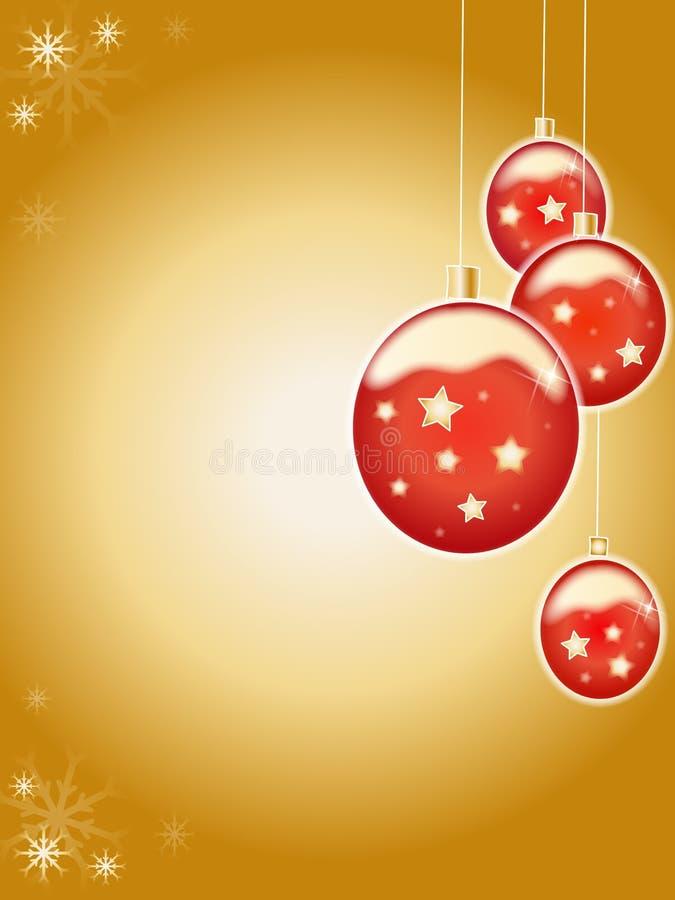 球圣诞节 库存例证