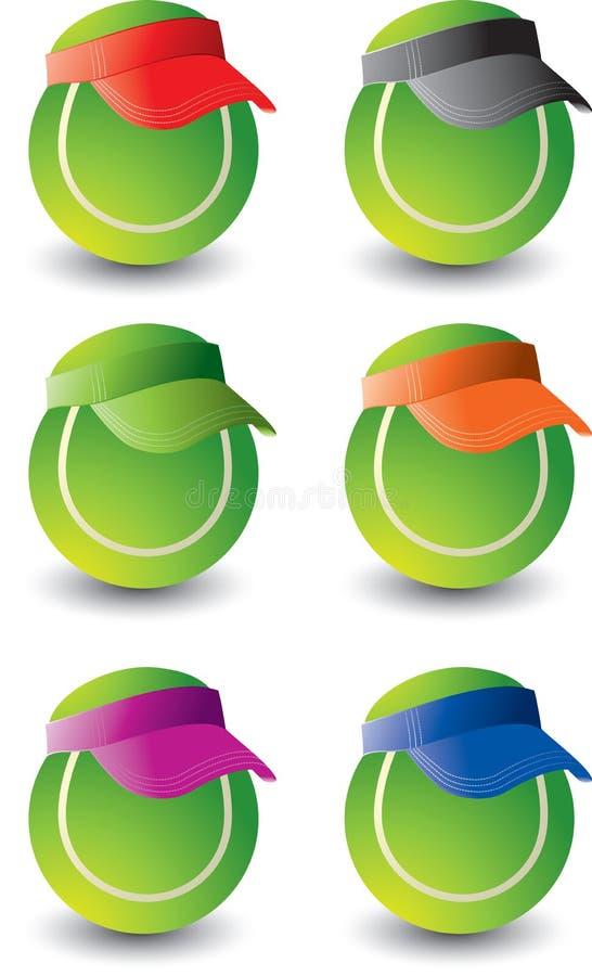 球多个网球 皇族释放例证