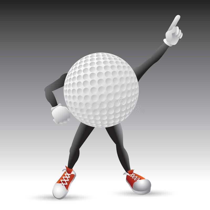 球字符高尔夫球姿势触击 皇族释放例证