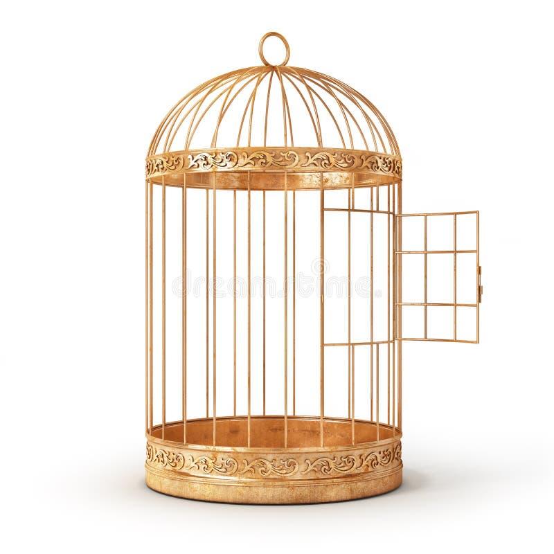 球尺寸三 开放鸟的在白色背景的细胞隔离 库存例证