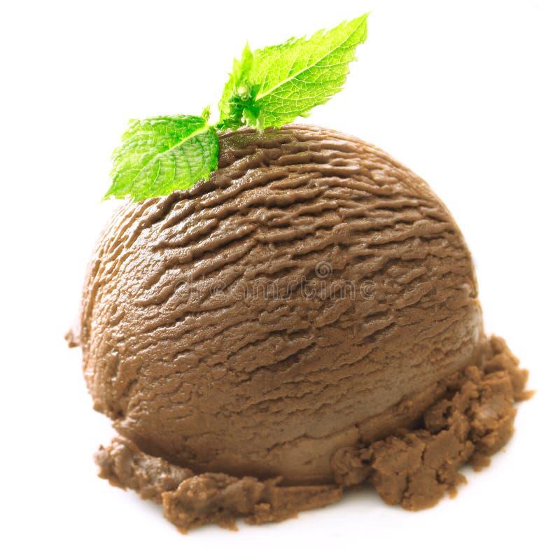 球巧克力冰淇凌薄菏 库存图片