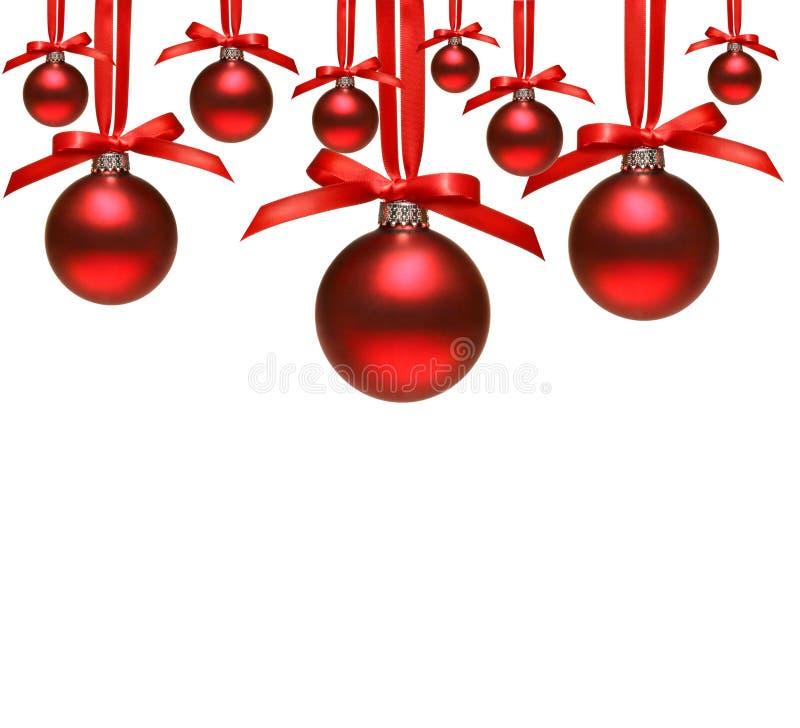球弓圣诞节红色白色 库存图片