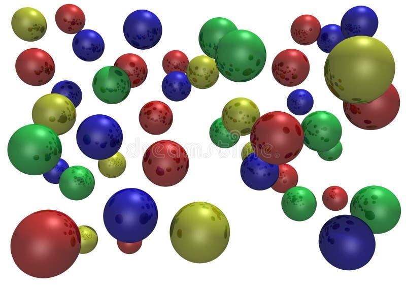 球弹跳反映 向量例证