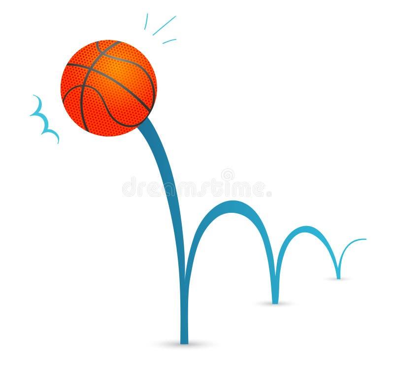 球弹跳 向量例证