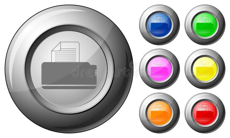 球形按钮打印机 向量例证