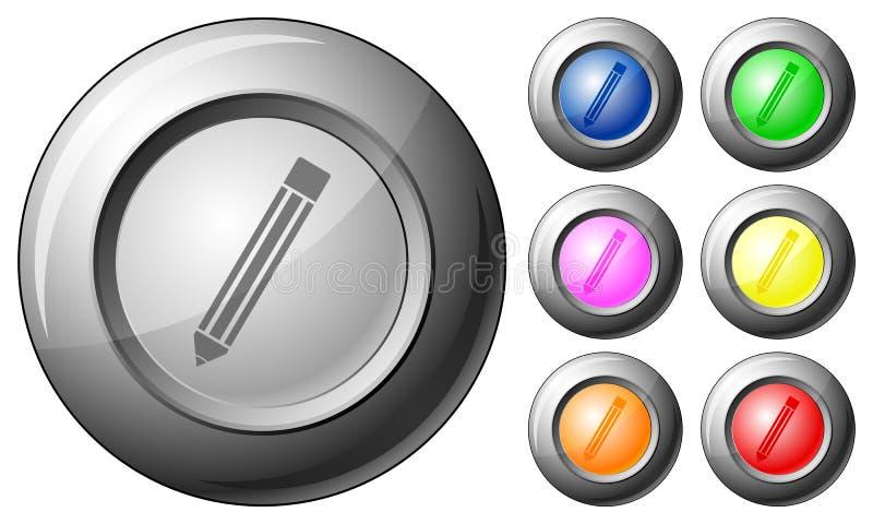 球形按钮铅笔 库存例证