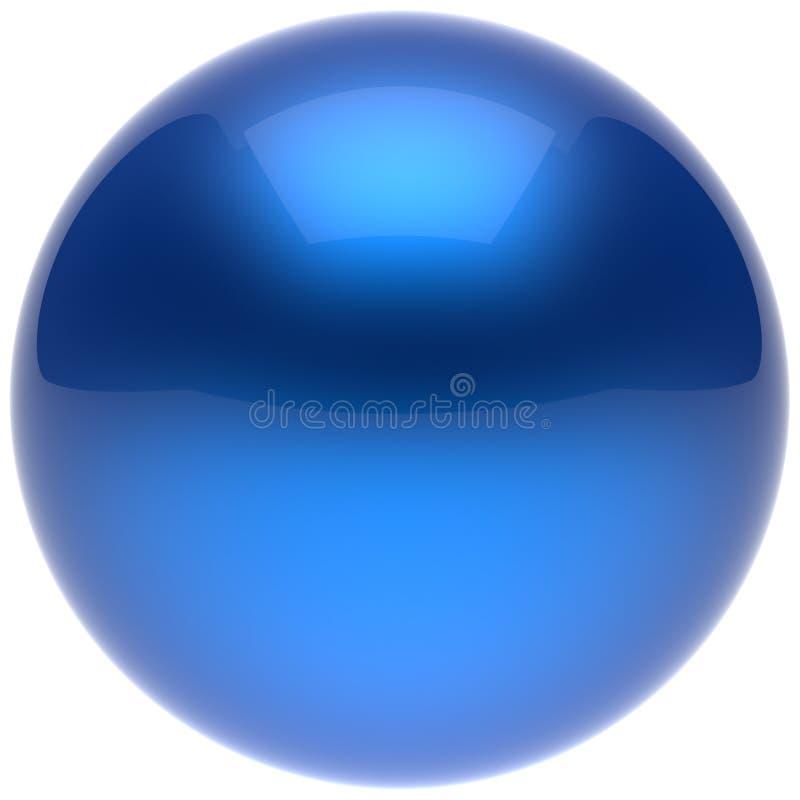球形球围绕基本的坚实泡影形象蓝色的按钮圈子 向量例证