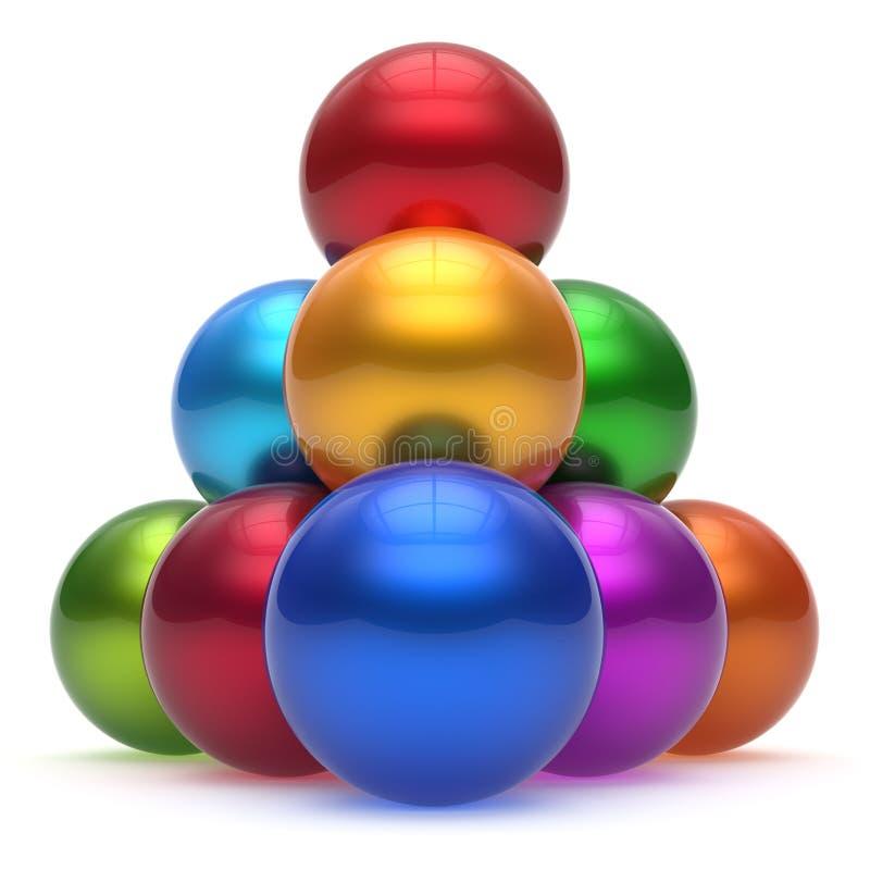 球形球金字塔阶层公司上面顺序领导 向量例证