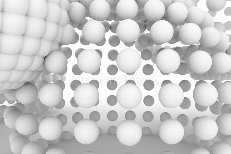 球形,软绵绵地白色现代的样式&灰色背景 图表,生产,线&黑色 向量例证