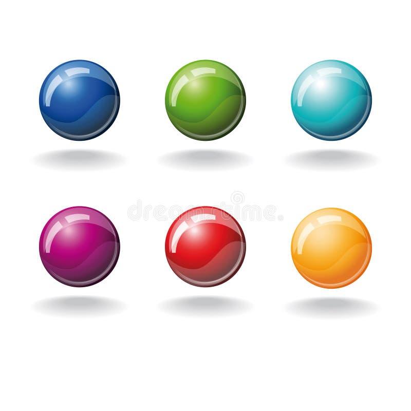 球彩色组 皇族释放例证