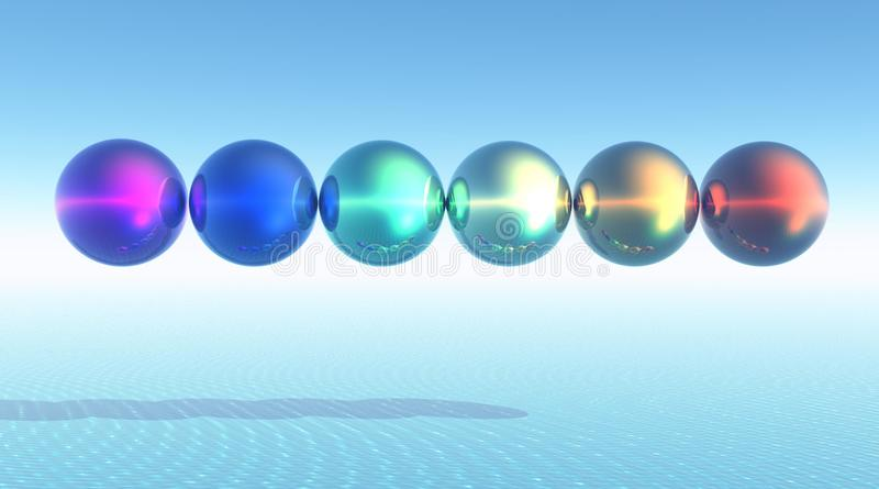 球彩虹 向量例证