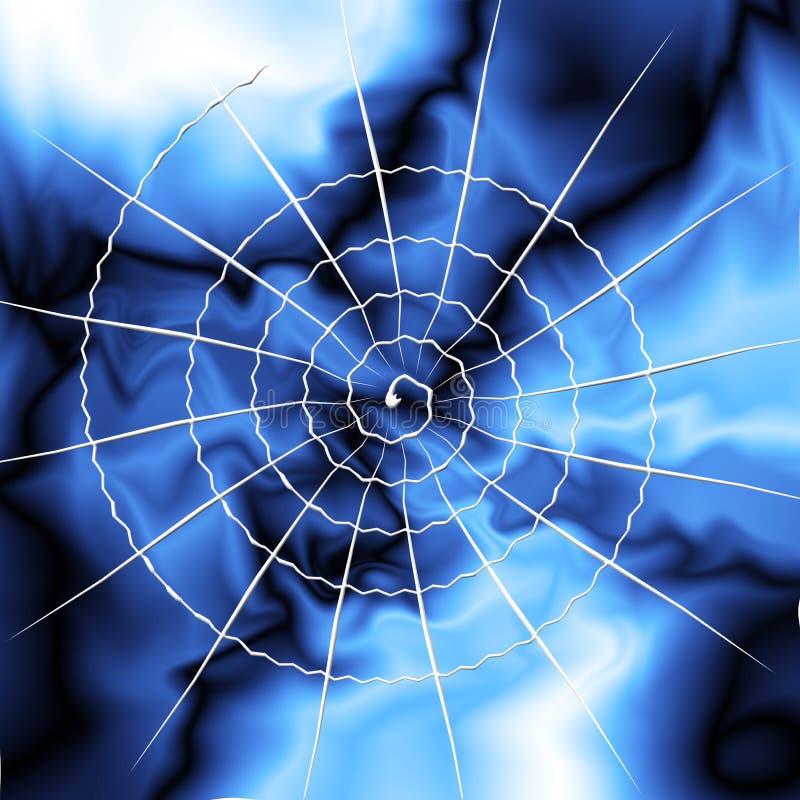 球彩虹spiderweb 皇族释放例证