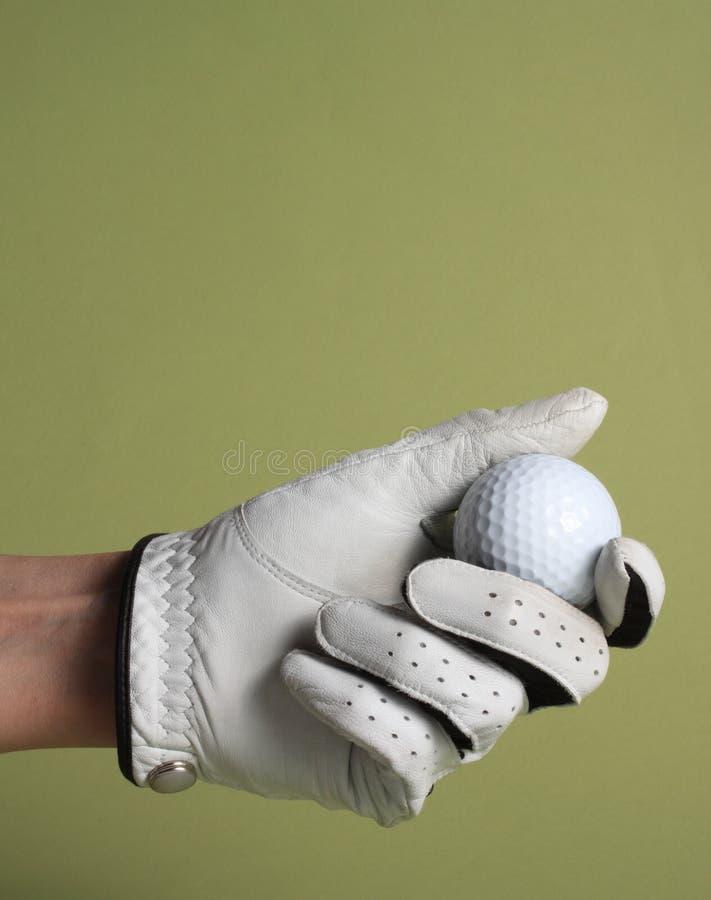 球手套高尔夫球 免版税库存照片