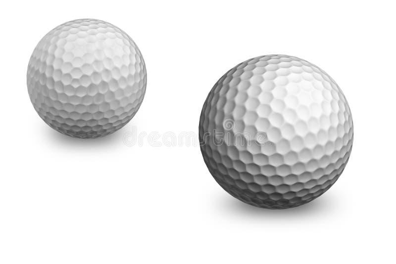 球打高尔夫球二 免版税库存图片