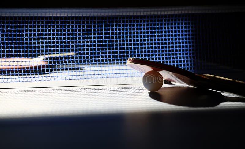 球拍乒乓球 库存照片