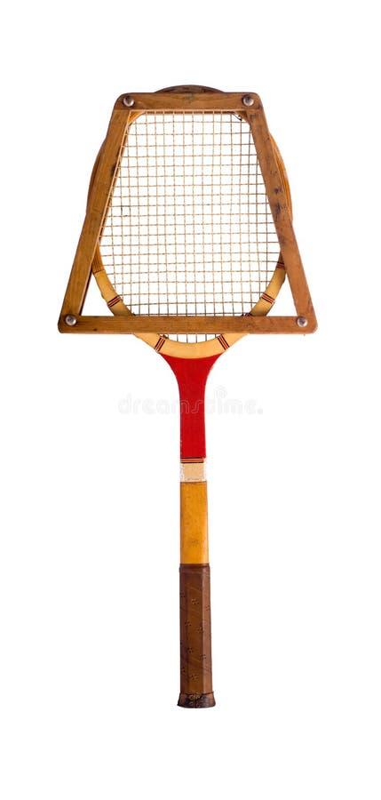 球拍网球葡萄酒 免版税库存照片