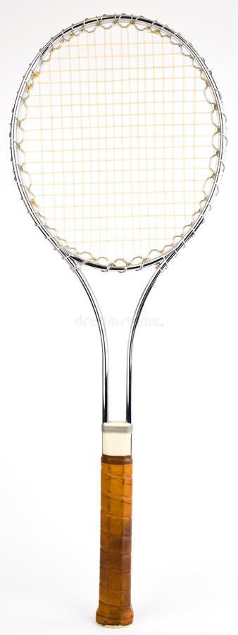 球拍网球葡萄酒 免版税库存图片