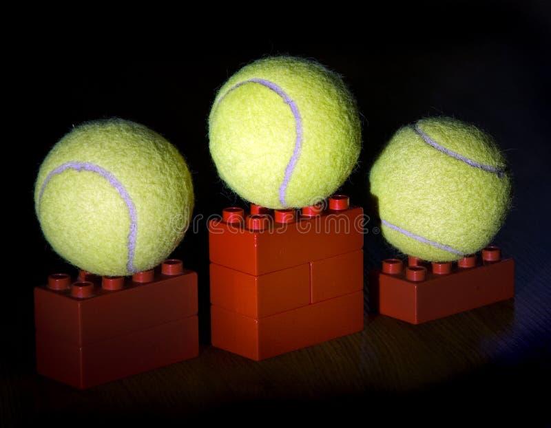 球指挥台网球 免版税库存图片