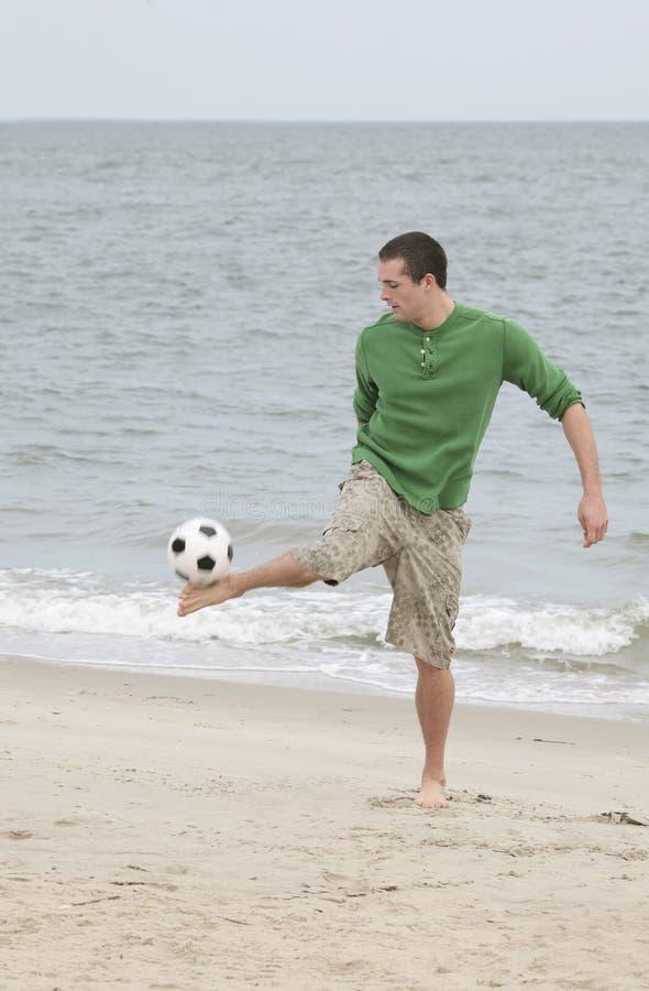 球插入的人足球 免版税图库摄影