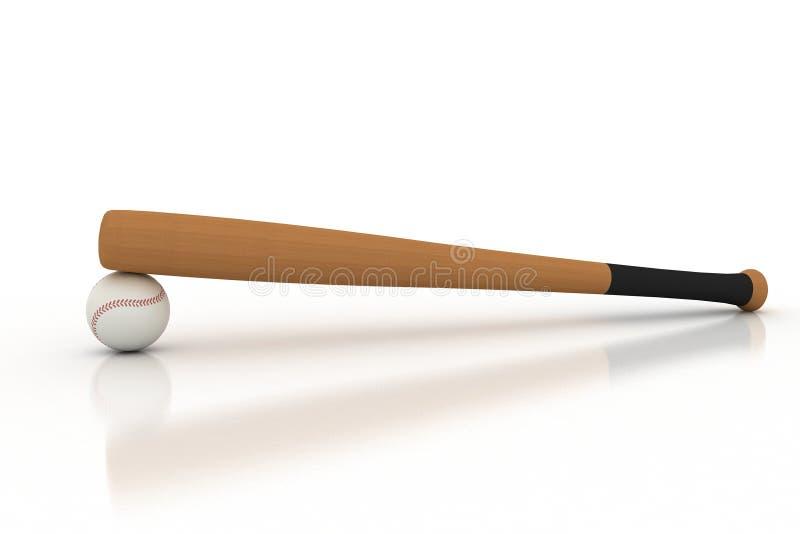 球放置的棒球棒  图库摄影