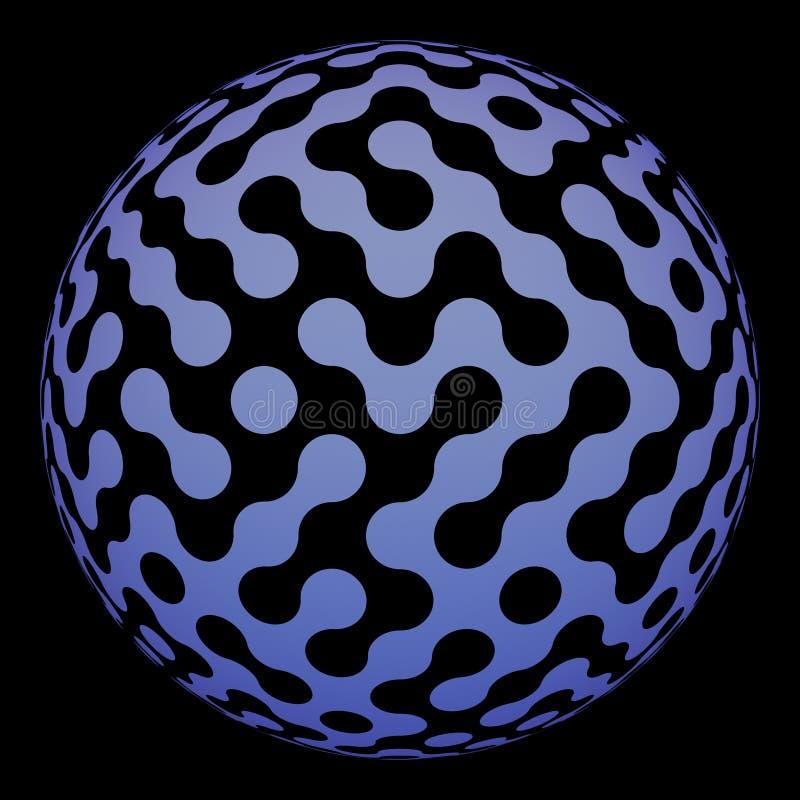 球数字式迷宫现代表面 库存例证